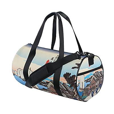 a04e71cbe5 good Ukiyoe Ukiyo-E Print Japanese Art Travel Duffel Shoulder Bag ,Sports  Gym Fitness Bags