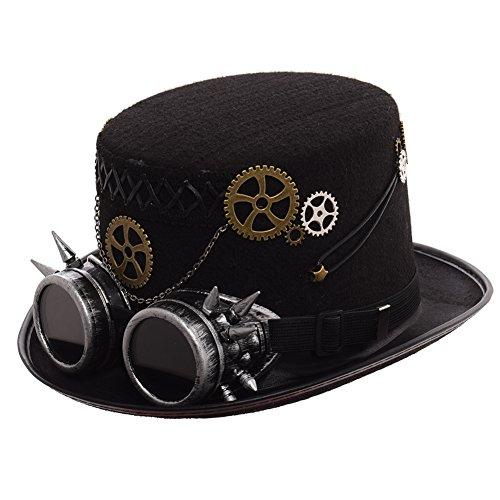 GRACEART Steampunk hacia Parte Superior Sombreros con Google (Varios Estilos)   Amazon.es  Ropa y accesorios 120acd295f5