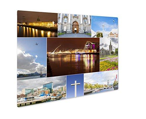 Ashley Giclee Metal Panel Print  Dublin Photos Collage  Wall Art Decor  Floating Frame  Ready To Hang 8X10  Ag5678713