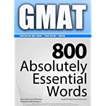 GMAT Interactive Quiz Book + Online + Flash Cards/800 Absolutely Essential Words. A powerful method to learn the vocabulary you need.
