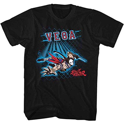 Street Fighter Men's Vega Fence Slim Fit T-shirt Small Black