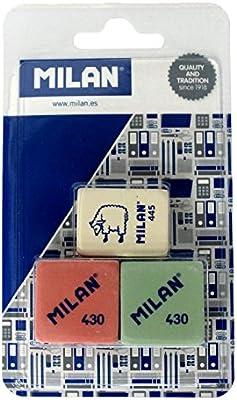 Acan Pack de 3 Gomas de borrar Milan Rosa Verde y Blanca: Amazon ...