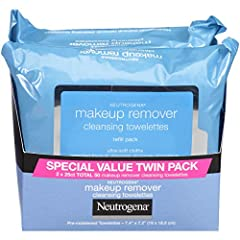 Remove makeup in one easy step with Neutrogena Makeup Remover Cleansing Towelettes. These soft and gentle pre moistened facial cleansing wipes effectively dissolve all traces of dirt, oil and makeup—even waterproof mascara without irritatio...
