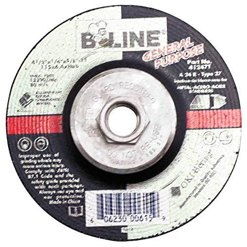 15 Pack 5//8-11 Arbor Depressed Center Grinding Wheel 4 1//2 Dia 24 Grit 1//4 Thick