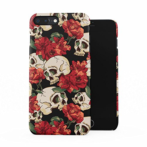 Grunge Skeleton Skulls Pattern Roses Wildflower Floral Hipster Plastic Phone Snap On Back Case Cover Shell For Iphone 7 Plus   Iphone 8 Plus