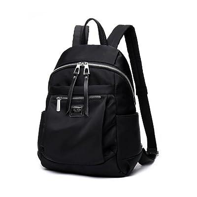 high-quality KJWXSGFF Ladies Casual Daily Rucksack Shoulder Bag,Black Medium,362413CM