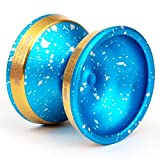 Edge Yoyo by YoYoFactory Color Blue Acid Wash with Gold Edge Rims