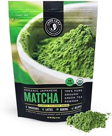 Jade Leaf - Organic Japanese Matcha Green Tea Powder - USDA Certified, Authentic Japanese Origin - Classic Culinary Grade - Antioxidants, Energy [3.5 Ounce (100 Gram) Value Size]