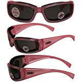 Fight Back Cancer Pearlescent Pink Women Smoked Motorcycle Glasses Sunglasses