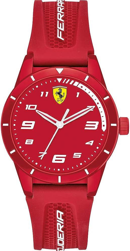 Scuderia Ferrari Reloj Analógico para Unisex niños de Cuarzo con Correa en Silicona 0860010