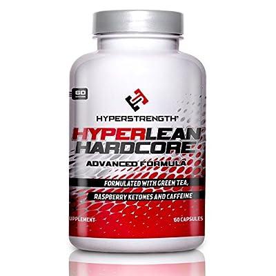 HyperLean Hardcore - Advanced Thermogenic Fat Burner, Green Tea Extract, Raspberry Ketones, 60 Caps