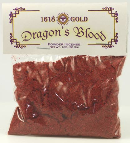 - AzureGreen 1 X Dragons Blood Powder Incense 1618 gold