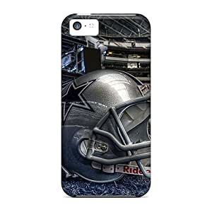 Fashion Tpu Case For Iphone 5c- Dallas Cowboys Helmet Defender Case Cover
