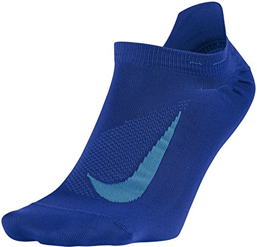 Nike Men's Nike Elite Lightweight No-Show Running Sock in Size 12 US Blue