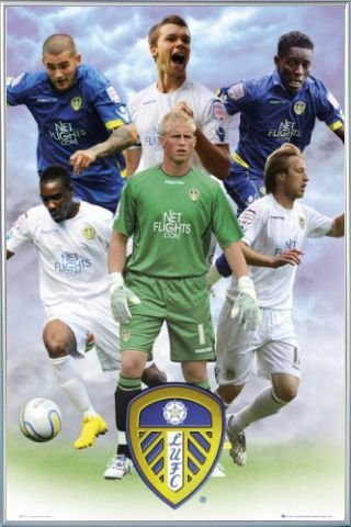 Football Poster and Frame (Plastic) - Leeds, Players 10/11 (36 x 24 - Leeds Outlet