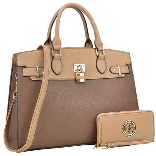 (MMK collection Fashion Women Purses and Handbags Ladies Designer Satchel Handbag Tote Bag Shoulder Bags with coin purse (Z-6876-KH))