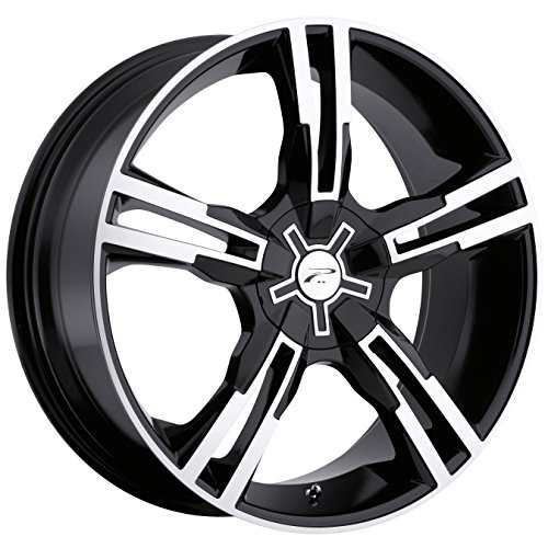 Platinum 292B Saber FWD Gloss Black with Diamond Cut and Clear Coat Wheel (17x7.5
