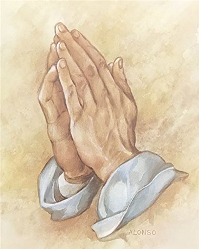 Unframed Print Praying Hands, (Religious / 5-810-X) 8x10 Inch Alonso, Art Print & Poster