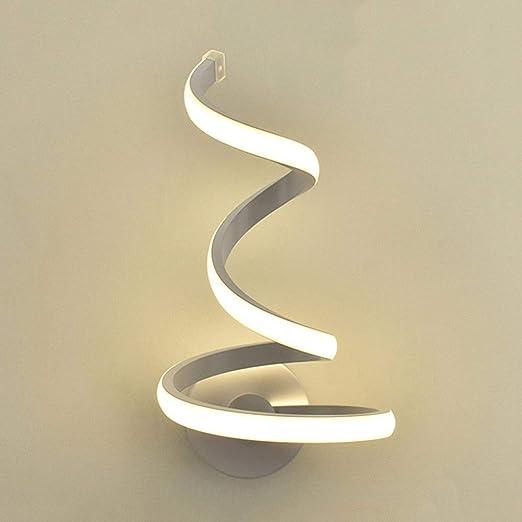 Modeen Lampada da parete a spirale a LED Semplice e moderna Creatività  Lampada da comodino Camera da letto Lampada da parete Lampada da parete in  ...
