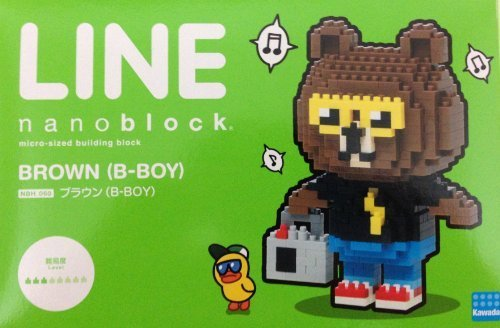 nanobock line Brown (B-BOY) [limited] LOFT nano block LINE BROWN B-BOY (japan import) by Kawada