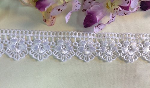 2 Yards, Mini Flower Scalloped Trim for Borders, 1