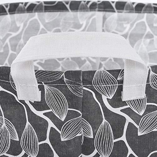Leslily Hamper, Waterproof Canvas Laundry Hamper Clothes Basket Storage Basket Folding Bag Hamper Bag by Leslily (Image #2)