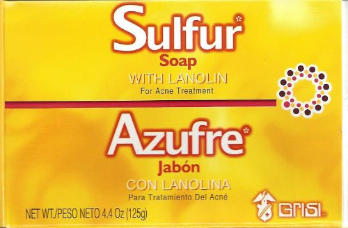 GRISI LARGE 125g 10% SULFUR SOAP DERMATITIS OILY SKIN