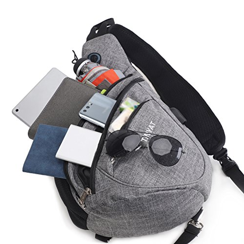 L Camping Hiking for Chest Women Grey Men Bicycle Kids Sport Backpack boys for Versatile Waterproof Camera Bags Sling Travel Crossbody Bag Shoulder 6S4qRR