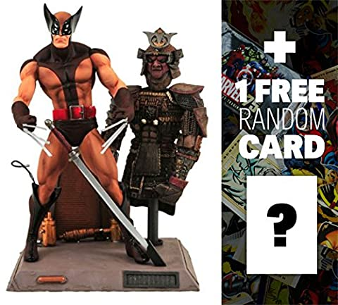 Wolverine: Marvel Select x Diamond Select Action Figure + 1 FREE Official Marvel Trading Card (Wolverine X Men Claw Silver)