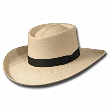 de6427a84998e Ultrafino VENICIA GAMBLER Panama Straw Hat ULTRA WIDE BRIM at Amazon Men s  Clothing store
