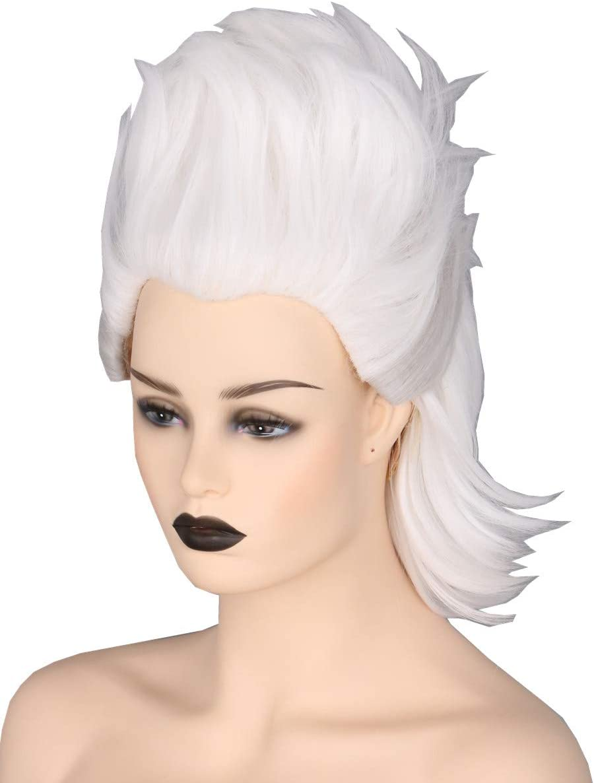 Topcosplay Ursula Peluca, Corta Peluca Blanca para Mujer Bruja ...