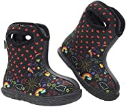 MCIKCC Baby Boots, Waterproof Toddler Boots Rain Boots Multicolored for The Infant, Girls, Boys