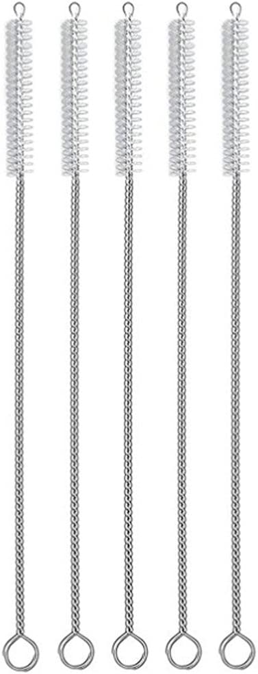 LQMILK Cepillo de Tubo, 5 Piezas Cepillo de Paja Cepillo de Caldera de Limpieza extralargo Cepillo de Vaso Tubo de ensayo Cepillo de Tubo Gafas Juego de cepillos de Limpieza de Paja, Cepillo de Pico