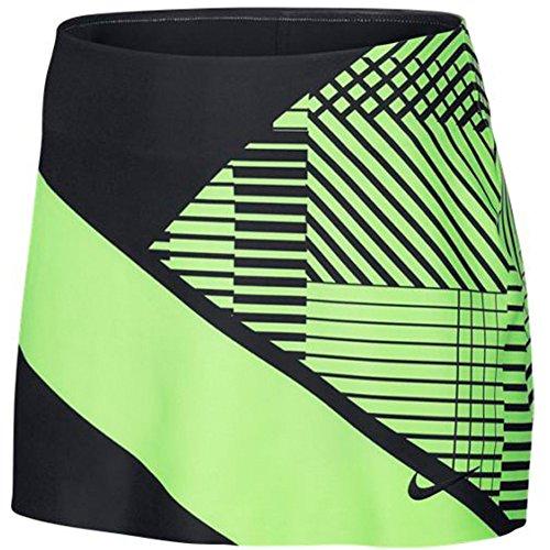 Nike Women's Power Spin Tennis Skirt Ghost Green/Black Medium