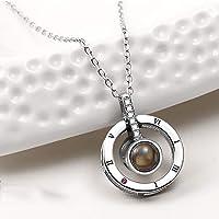 Fashion Jewelry Collar con Dije TE Amo 100 Idiomas I Love You (Plata)