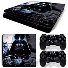 Ps4 Slim Playstation 4 Console Skin Decal Sticker Star Wars Darth Vader + 2 Controller Skins Set (Slim Only)