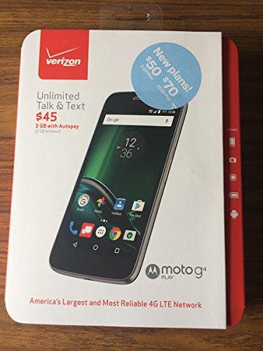 Verizon Wireless Moto G Play Prepaid Carrier Locked, 5- Black