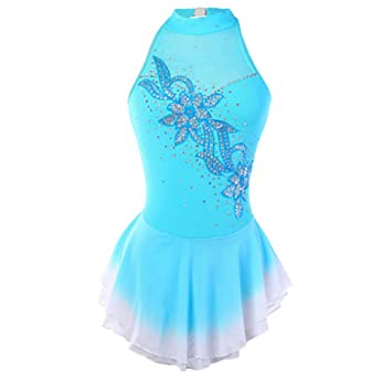 Amazon.com : HUAYANGNIANHUA Figure Skating Dress Girl Woman ...