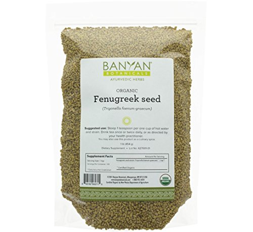 Price comparison product image Banyan Botanicals Fenugreek Seed - USDA Organic - Aromatic Spice that Promotes Healthy Digestion* - Trigonella foenum-graecum (1 lb)