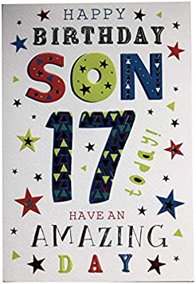 Enjoyable For A Wonderful Son On Your 17Th Birthday Card 7402 Design Cg Personalised Birthday Cards Cominlily Jamesorg