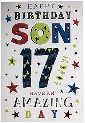 Awesome For A Wonderful Son On Your 17Th Birthday Card 7402 Design Cg Funny Birthday Cards Online Elaedamsfinfo