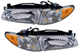 Pontiac Grand Prix 97 - 03 Head Light Lamp With Bulb Pair 16526112 16526111