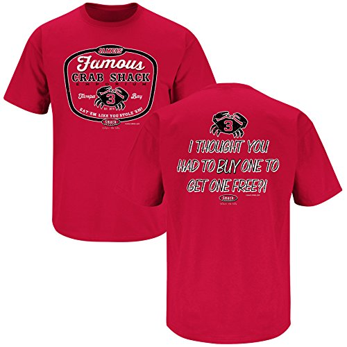(Tampa Bay Football Fans. Jameis' Famous Crab Shack Red T-Shirt (S-5X) (Large))