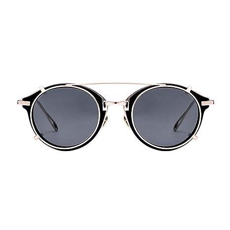Xuanbao Gafas de Sol Unisex Estilo Steampunk Gafas de Sol ...