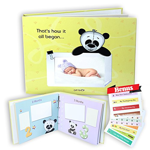 First 5 Years Baby Memory Book, Unisex – Album Record Phot
