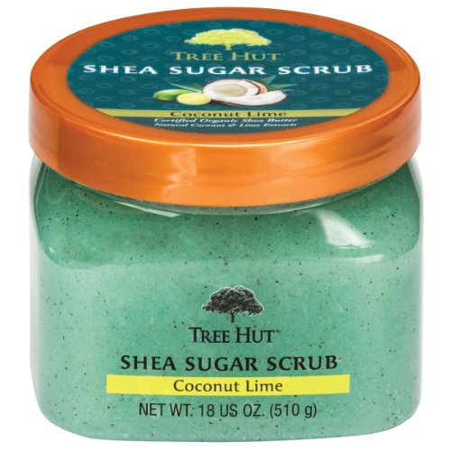 Arbre Hut Shea Sugar Scrub, Coconut Lime, 18 onces (Pack de 3)