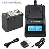 Kastar Fast Charger and Battery (1-Pack) for JVC BN-VF823 BN-VF823U and GY-HM100 GY-HM100U GY-HM150 GY-HM170U GZ-HMZ1 GZ-MG130 GZ-MG131 GZ-MG132 GZ-MG133 GZ-MG134 GZ-MG135 GZ-MG148 GZ-MG150 GZ-MG155