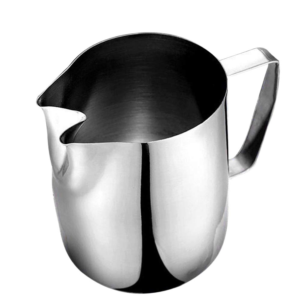 Fityle Milk Frothing Pitcher Stainless Steel Steaming Pitcher 1000ml, Good for Milk, Cream, Water, Juices, Smoothies, Drinks