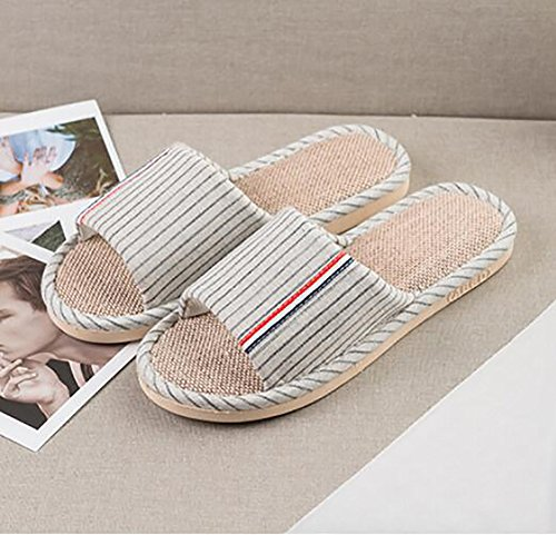 Zapatillas SHANGXIAN Plano Zapatos Chancletas Verano 44 D Lino Mujeres 45 Menaje E Interior Baño XXrqAz
