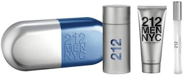 Carolina Herrera 8411061807200 – 212 Men 3 piezas – Hombre: Amazon.es: Belleza
